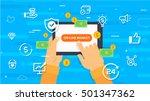 online market concept. | Shutterstock .eps vector #501347362