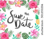 save the date invite card... | Shutterstock . vector #501353206