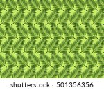 palm leaves background  vector... | Shutterstock .eps vector #501356356