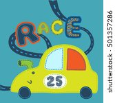 cute babyish race car and... | Shutterstock .eps vector #501357286