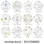 doodle line design of web... | Shutterstock .eps vector #501358882