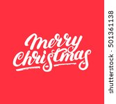 merry christmas hand written...   Shutterstock .eps vector #501361138