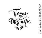 vegan and organic card. eco... | Shutterstock .eps vector #501363046