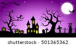 illustration of a spooky... | Shutterstock . vector #501365362