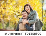 beautiful mother with handsome... | Shutterstock . vector #501368902