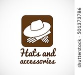 hat and gloves square shape... | Shutterstock .eps vector #501373786