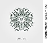 ethnic mystical pattern with...   Shutterstock .eps vector #501374722