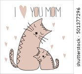 sweet cards for mothers day... | Shutterstock .eps vector #501377296