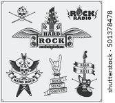rock'n'roll music symbols ... | Shutterstock .eps vector #501378478