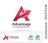 letter a logo in gradient shape ... | Shutterstock .eps vector #501379246