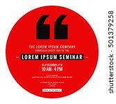 business seminar invitation... | Shutterstock .eps vector #501379258