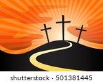 Christian Crucifix Silhouette...