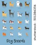 set of dog breeds vector... | Shutterstock .eps vector #501386356