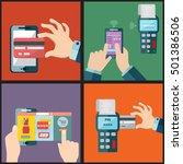 illustration set of mobile... | Shutterstock .eps vector #501386506
