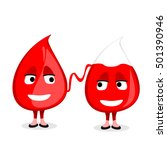 two drops of blood. blood... | Shutterstock .eps vector #501390946