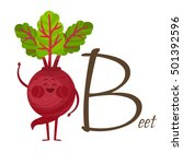 fruits and vegetables alphabet. ... | Shutterstock .eps vector #501392596