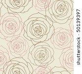 beautiful floral seamless... | Shutterstock .eps vector #50139397
