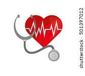 heart cardiogram and... | Shutterstock .eps vector #501397012
