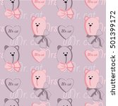 romantic seamless pattern with... | Shutterstock .eps vector #501399172