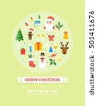 greeting christmas and new year ... | Shutterstock .eps vector #501411676