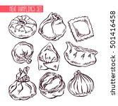 appetizing set of sketch...   Shutterstock .eps vector #501416458