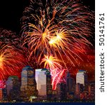 The Lower Manhattan Skyline And ...