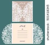 wedding invitation or greeting... | Shutterstock .eps vector #501418345