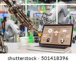 industry 4.0 concept image.... | Shutterstock . vector #501418396