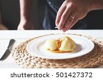 this is photo of chef preparing ... | Shutterstock . vector #501427372