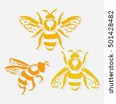 bee icon. honey flying bee.... | Shutterstock .eps vector #501428482