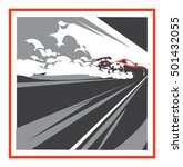 burnout car  japanese drift...   Shutterstock .eps vector #501432055