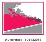 burnout car  japanese drift...   Shutterstock .eps vector #501432058