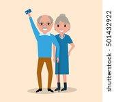 vector illustration grandfather ... | Shutterstock .eps vector #501432922