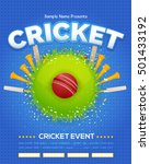 colorful cricket event poster... | Shutterstock .eps vector #501433192
