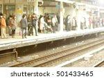 blur focus of people wait train ...   Shutterstock . vector #501433465