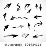hand drawn arrows  vector set   Shutterstock .eps vector #501434116