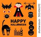 count dracula  monster  spider  ...   Shutterstock .eps vector #501436192