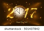 gold glitter vector 2017 happy... | Shutterstock .eps vector #501437842