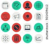 set of 16 universal editable... | Shutterstock .eps vector #501439612