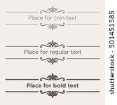 retro text dividers set....   Shutterstock .eps vector #501451585