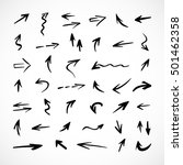 hand drawn arrows  vector set | Shutterstock .eps vector #501462358