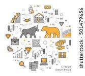 vector line concept stock... | Shutterstock .eps vector #501479656