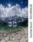 beautiful mountain lake.... | Shutterstock . vector #501480628