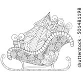 christmas sledges of santa with ... | Shutterstock .eps vector #501481198