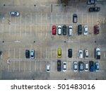 empty parking lots  aerial view. | Shutterstock . vector #501483016