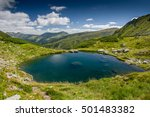 lake in the mountains. rodna... | Shutterstock . vector #501483382