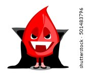 drop of blood in a vampire... | Shutterstock .eps vector #501483796
