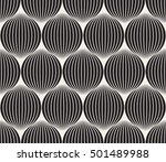 vector seamless black and white ... | Shutterstock .eps vector #501489988