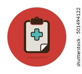 clipboard flat icon. medical... | Shutterstock .eps vector #501494122