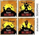 vector halloween background... | Shutterstock .eps vector #501495442